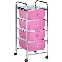 Vonhaus Storage Trolley Black, White and Pink Parent