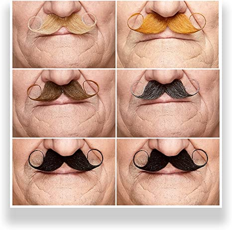 Honbay 36PCS Set Self Adhesive Novelty Fake Mustaches for Costume Party