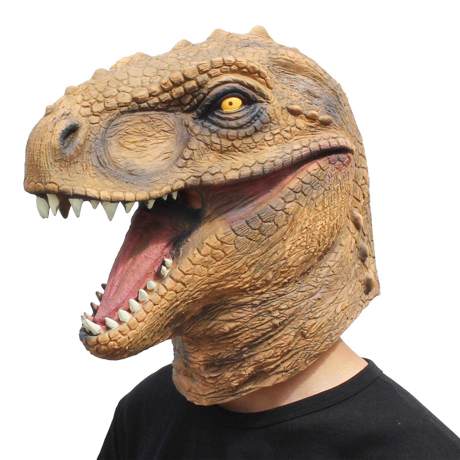 ویکالا · خرید  اصل اورجینال · خرید از آمازون · CreepyParty Novelty Halloween Costume Party Animal Jurassic Head Mask Dinosaur wekala · ویکالا
