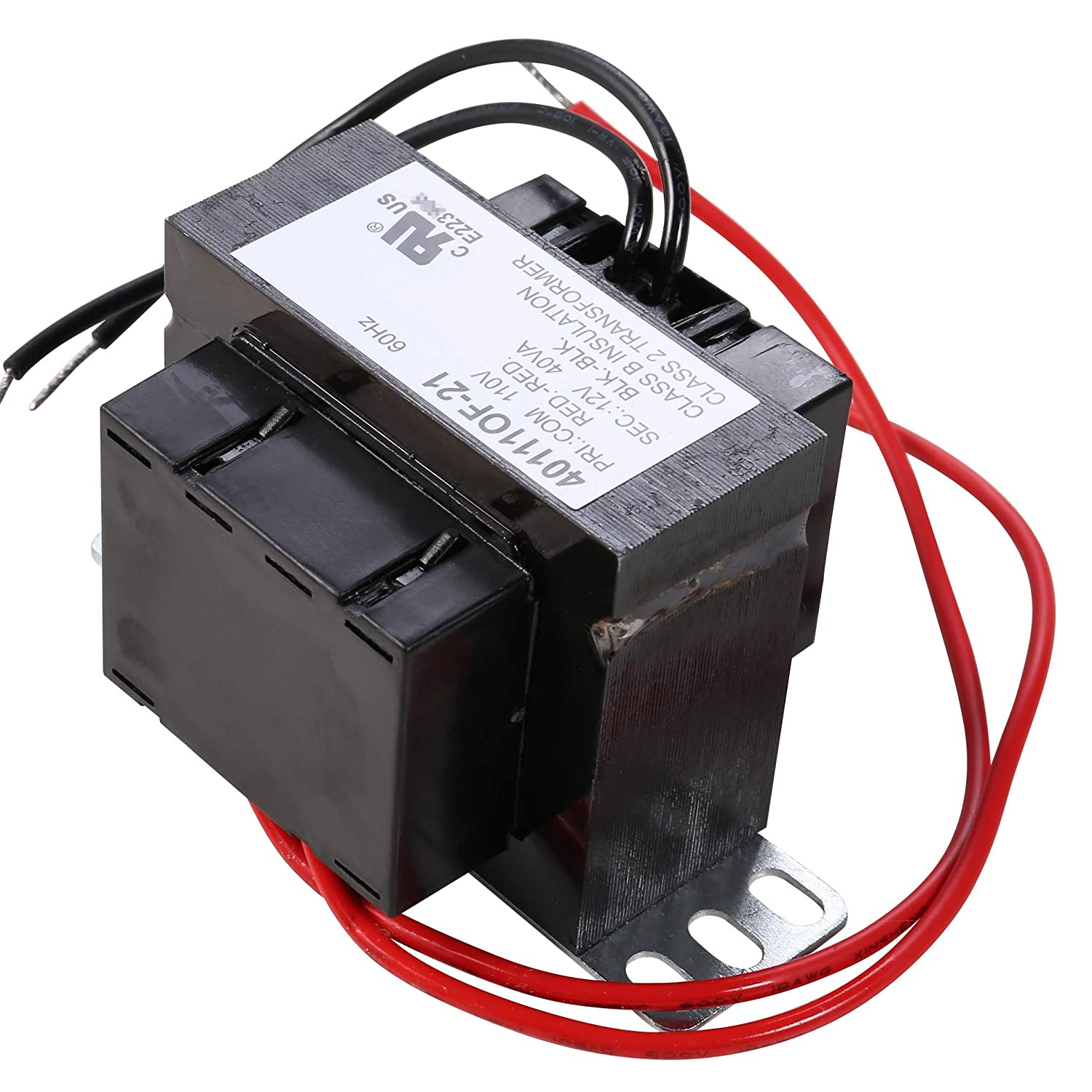 UHPPOTE UL-Recognized Class 2 Transformer Foot Mount 40VA Rating 110VAC Input 12VAC Output UT-40111OF-21