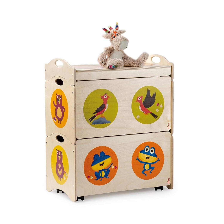 DIDA - Baúles para niños - Pancotti con Osos, pájaros carpinteros y Ranas