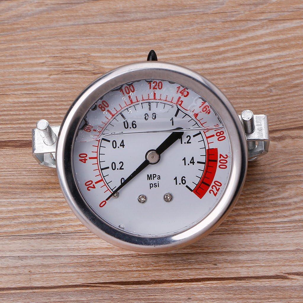Bilinli 0-1.6MPa 0-220psi Medidor de presi/ón de Agua l/íquida Medidor 1//4f Bomba de /ósmosis inversa