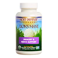 Host Defense, Lion's Mane Capsules, Promotes Mental Clarity, Focus and Memory, Daily...