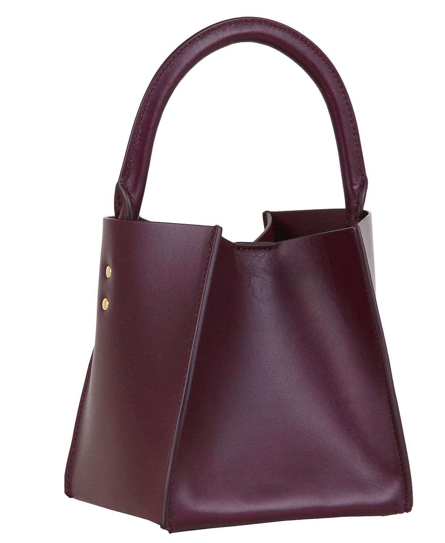Sophie Hulme Nano Albion kubväska greppa axel fyrkantig påse snygg handväska present Brun