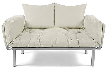 Easysitz Schlafsofa Sofa 2 Sitzer Kleines Couch 2 Sitzer Schlafsessel Fur Zweisitzer Personen Mein Futon Sitzen Ein Einer Farbauswahl Creme
