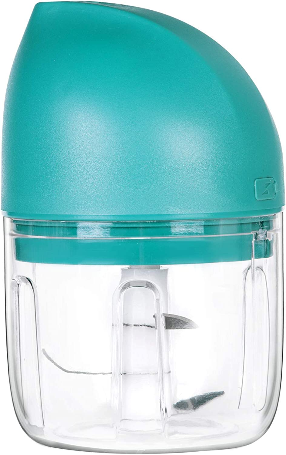 250ml Portable Wireless Mini Food Processor, Rechargeable Mini Garlic Mincer Chopper, Electric Mini Food Chopper for Garlic, Onion, Nut, Vegetable, Meat and Baby Food,Easy to Clean,BPA Free