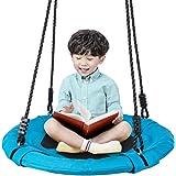 Homde Upgrade Version Flying Saucer Swing Anti-Fade Tree Swing Set Outdoor Indoor Swings with Adjustable Straps for Kids…