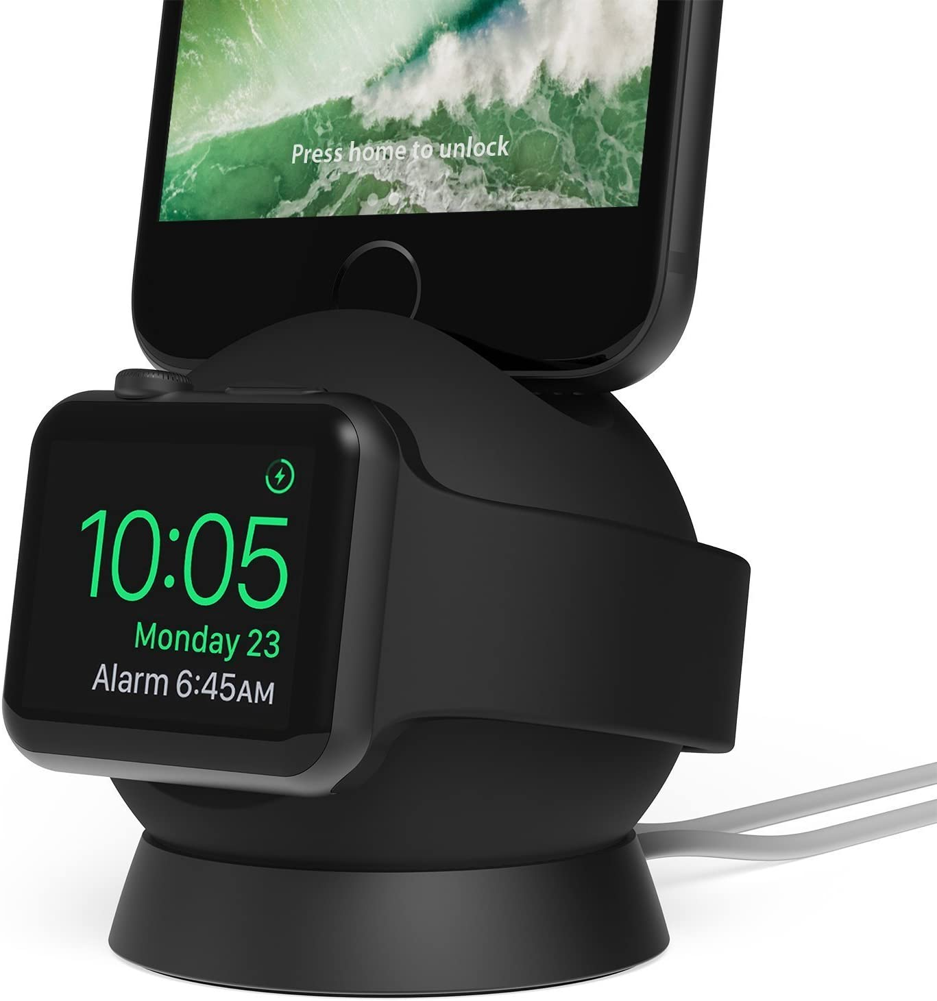 iOttie OmniBolt Apple Watch Stand, iPhone Docking Station for Apple Watch Series 2, 1, iPhone 7s Plus, 7s, 6s, SE, 6 - Graphite