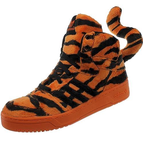 adidas JS Jeremy Scott Tiger m29010 Unisex-Adult Funda Zapatillas/Zapatos de Casual/High-Top Zapatillas Naranja, Color Naranja, Talla 44 EU: Amazon.es: ...