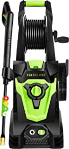 Ekcellent 4000 PSI 3.0 GPM Electric Power Washer, High Pressure Washer, Hose Reel, 4 Different Pressure Tips, Suitable for Car, Home, Garden, Driveway