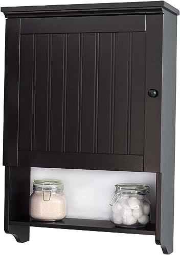 Wall Mount Espresso Bathroom Medicine Cabinet Storage Organizer Space Saver