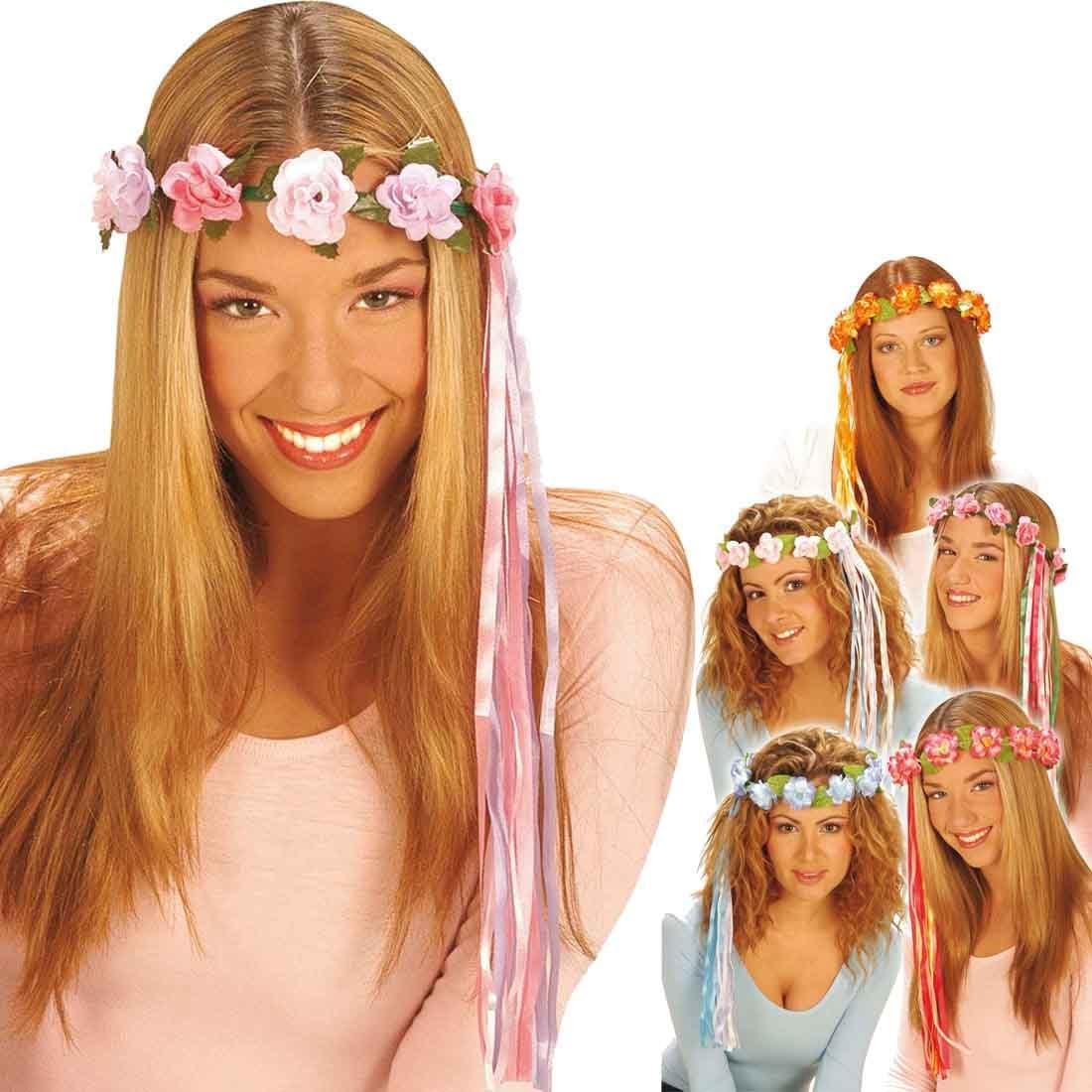 Blumenkranz blau Haare Haarschmuck Blumen Blumenhaarkranz Fee Blütenkranz Elfe