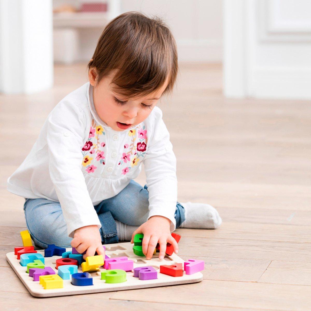 Baby Puzzle Spiele Holzspielzeug solini ABC Buchstaben 26-tlg ab 18 Monate bunt neu