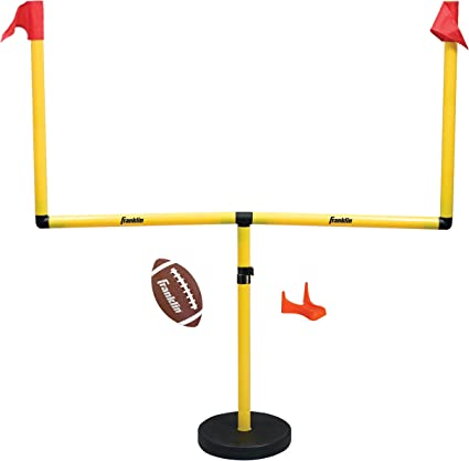 Franklin Sports Youth Football Goal Post Set — Kids' Football Goal Post with Mini Football — Fun Football Goal for All Ages — Easy Assembly —