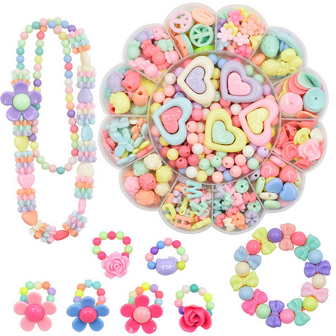 (Style5) - Felice Girls Bead Box Colourful Acrylic DIY Beads in a Flower Shaped Box for Children Jewellery Making Bead Set Necklace Bracelet (style5)  スタイル5 B0778GWXYT