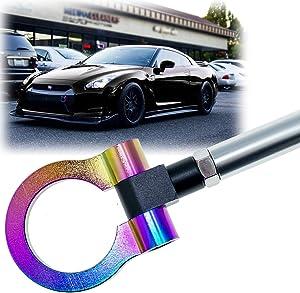 Xotic Tech JDM Sport Track Racing Style CNC Aluminum Screw-on Tow Hook for Nissan 370Z GTR Juke/Infiniti G37 QX70 FX35 Front Rear Bumper Neo
