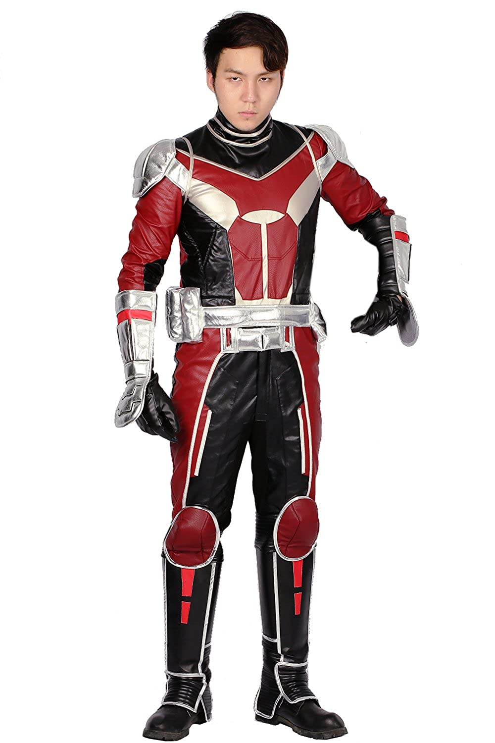 Updated Ant Man Costume and Helmet and Shoes Cover Outfit For Halloween Cosplay
