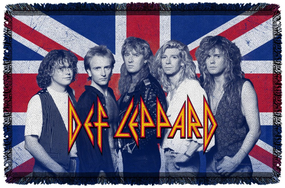 Def Leppard - The Boys Woven Throw Throw Blanket 80 x 48in