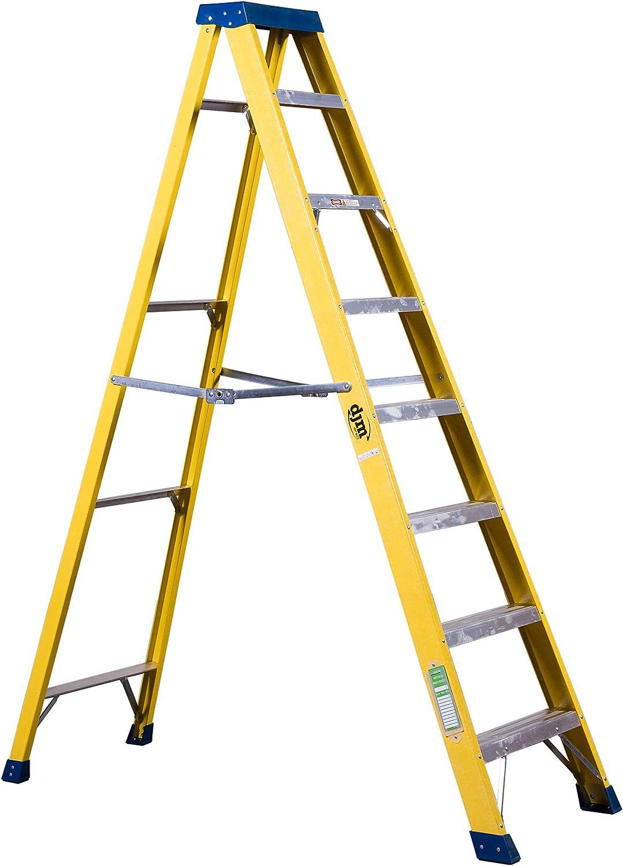 DJM Direct 8 escalera Electricistas resistente EN131 escalera de fibra de vidrio 30000 V: Amazon.es: Bricolaje y herramientas