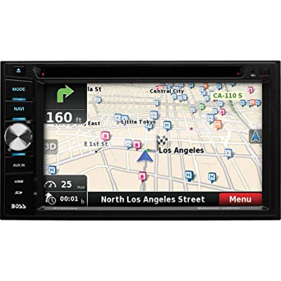 BOSS Audio Systems Elite BV960NV Car GPS Navigation and DVD Player - Double Din, Bluetooth Audio and Calling, 6.2 Inch LCD Touchscreen Monitor, MP3 CD DVD USB SD, Aux-in, AM FM Radio Receiver [5Bkhe1308962]