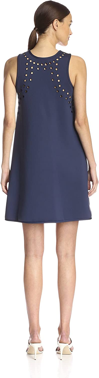 Cynthia Rowley Womens Perforated A-line Dress