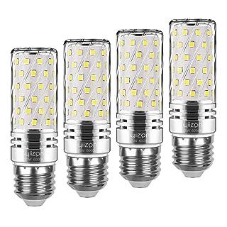 Yiizon E26 LED Corn Bulbs,15W LED Candelabra Light Bulbs 120 Watt Equivalent, 1500lm, Daylight White 6000K LED Chandelier Bulbs, Decorative Candle, Non-Dimmable LED Lamp(4-Pack)
