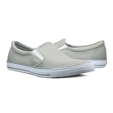 0549ac4430417 Burnetie Men's Grey Skid ll mesh Sneaker
