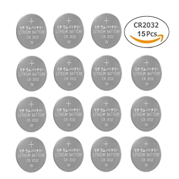 CR2032 3V Batteries Pilas de Litio Botón para Relojes Llaves de Antorchas (Pack de 15): Amazon.es: Hogar