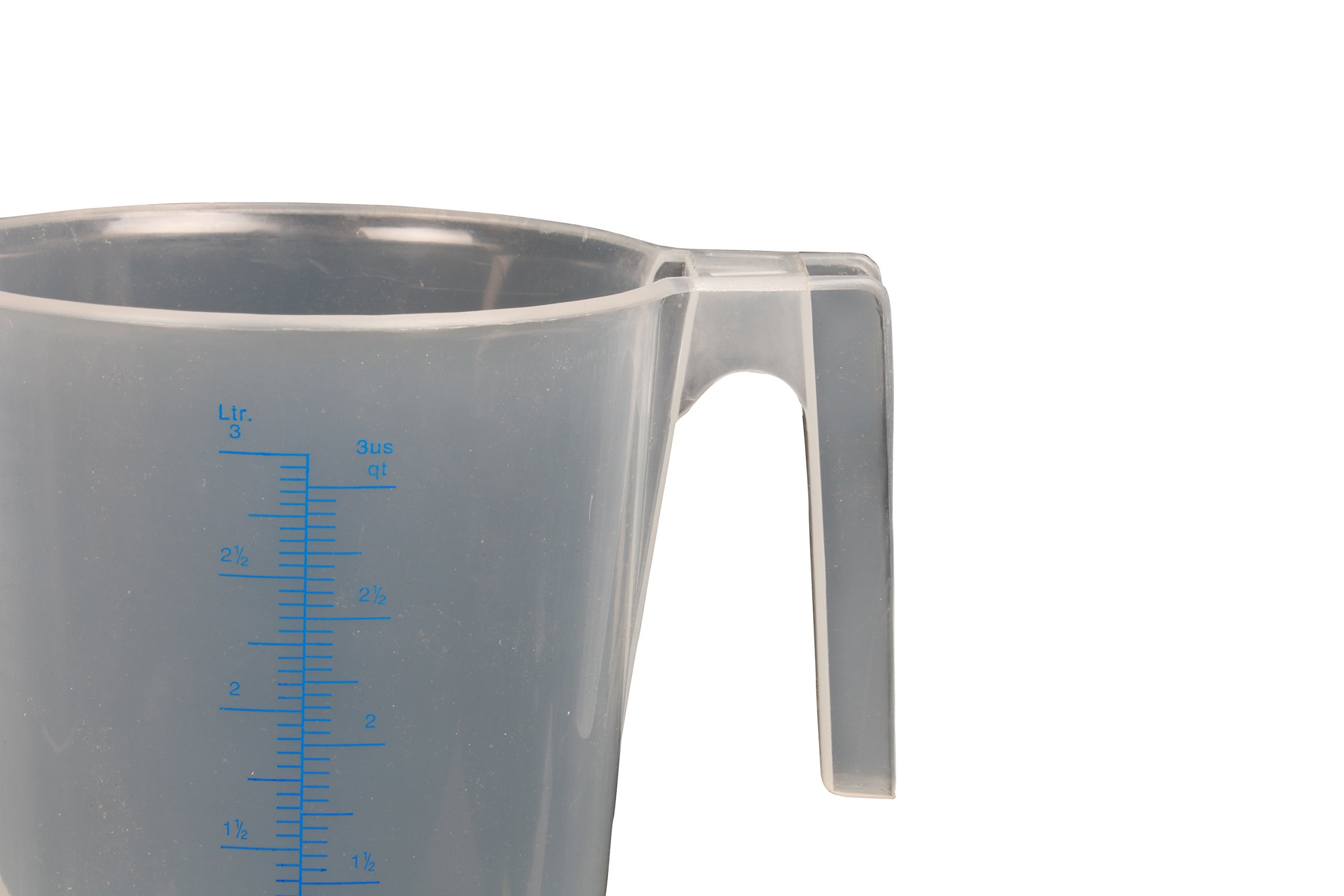 WirthCo 94150 Funnel King General Purpose Graduated Measuring Container - 3 Liter Capacity
