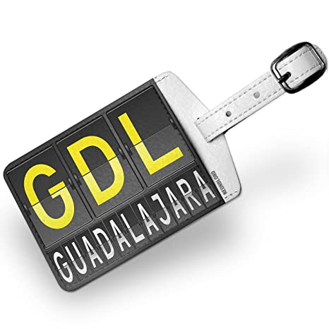 Amazon.com | Luggage Tag GDL Airport Code for Guadalajara - NEONBLOND | Luggage Tags