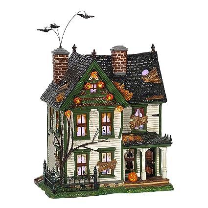 dept 56 snow village halloween spooky farmhouse 55315