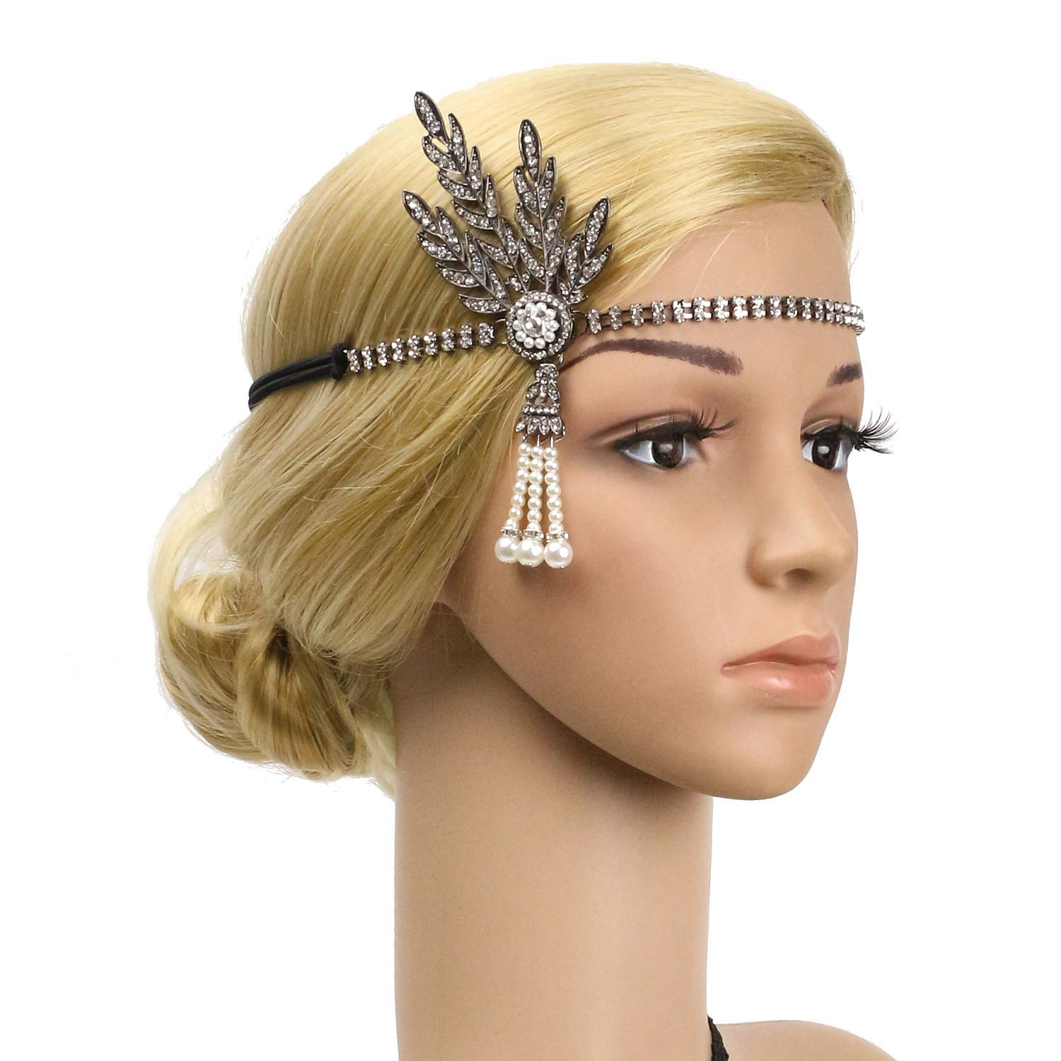 1920s Flapper Headbands Great Gatsby Inspired 20s Headpiece Flapper Costume Accessories /…