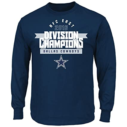 bbaf3e5e Majestic Dallas Cowboys NFL 2016 NFC East Division Champions Men's L/S  T-Shirt