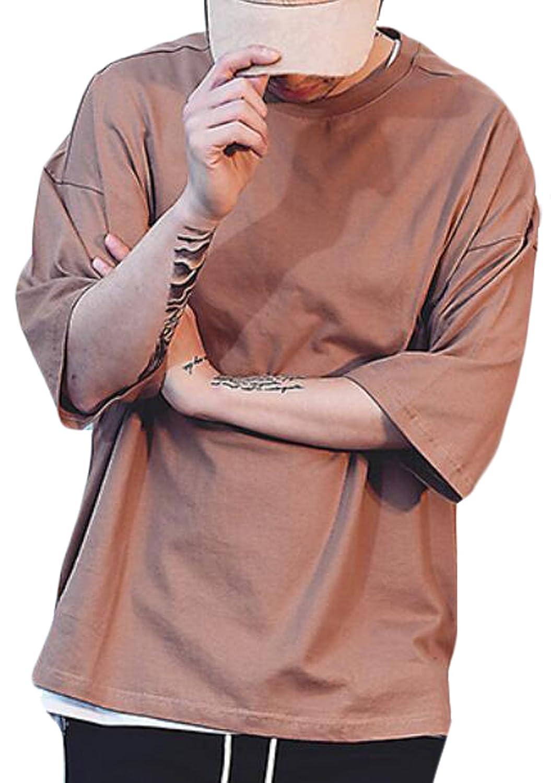 Abetteric Men Short-Sleeve Printed Oversize Silm Fit Tshirt Top Shirt