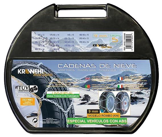 Krawehl 48709 Cadenas de nieve 9 mm, talla 90, 2 unidades, TÜV Austria/GS, ÖNORM: Amazon.es: Coche y moto