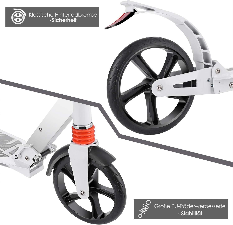 Kick Scooter Cityroller Tretroller Kickroller Alu Erwachsene Höhenverstellbar DE