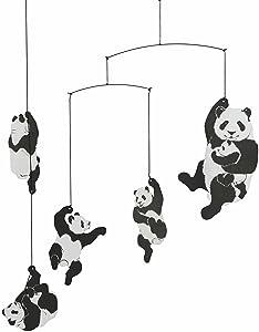Flensted Mobiles Panda Hanging Nursery Mobile - 20 Inches Cardboard