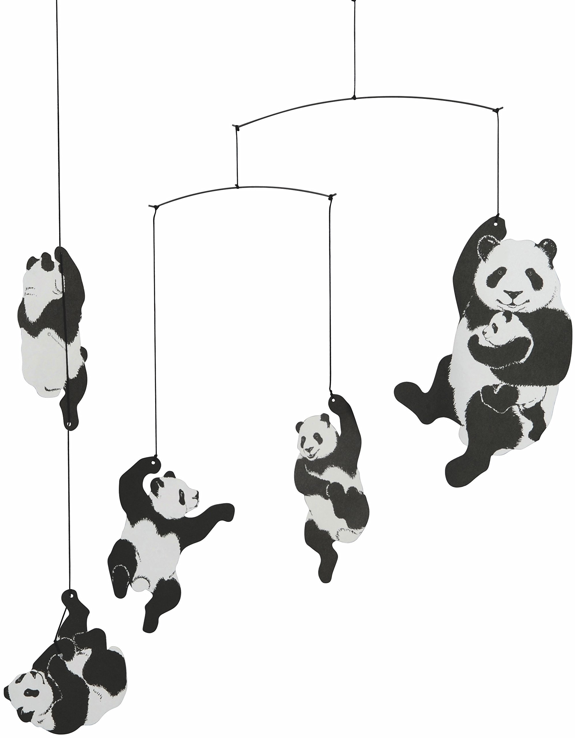 Flensted Mobiles Panda Hanging Nursery Mobile - 20 Inches Cardboard