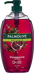 Palmolive Naturals Pomegranate with Mango Body Wash 0 percentage Parabens Dermatologically Tested pH Balanced Recyclable Bottle 1L