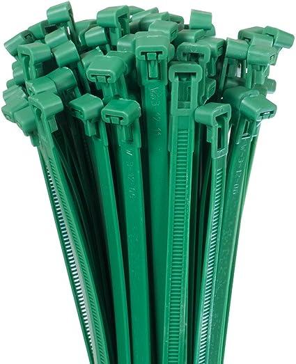 Bradas Ts1276300g 100 X Kabelbinder 7 6 X 300 Mm Grün 30x0 76x0 1 Cm Garten