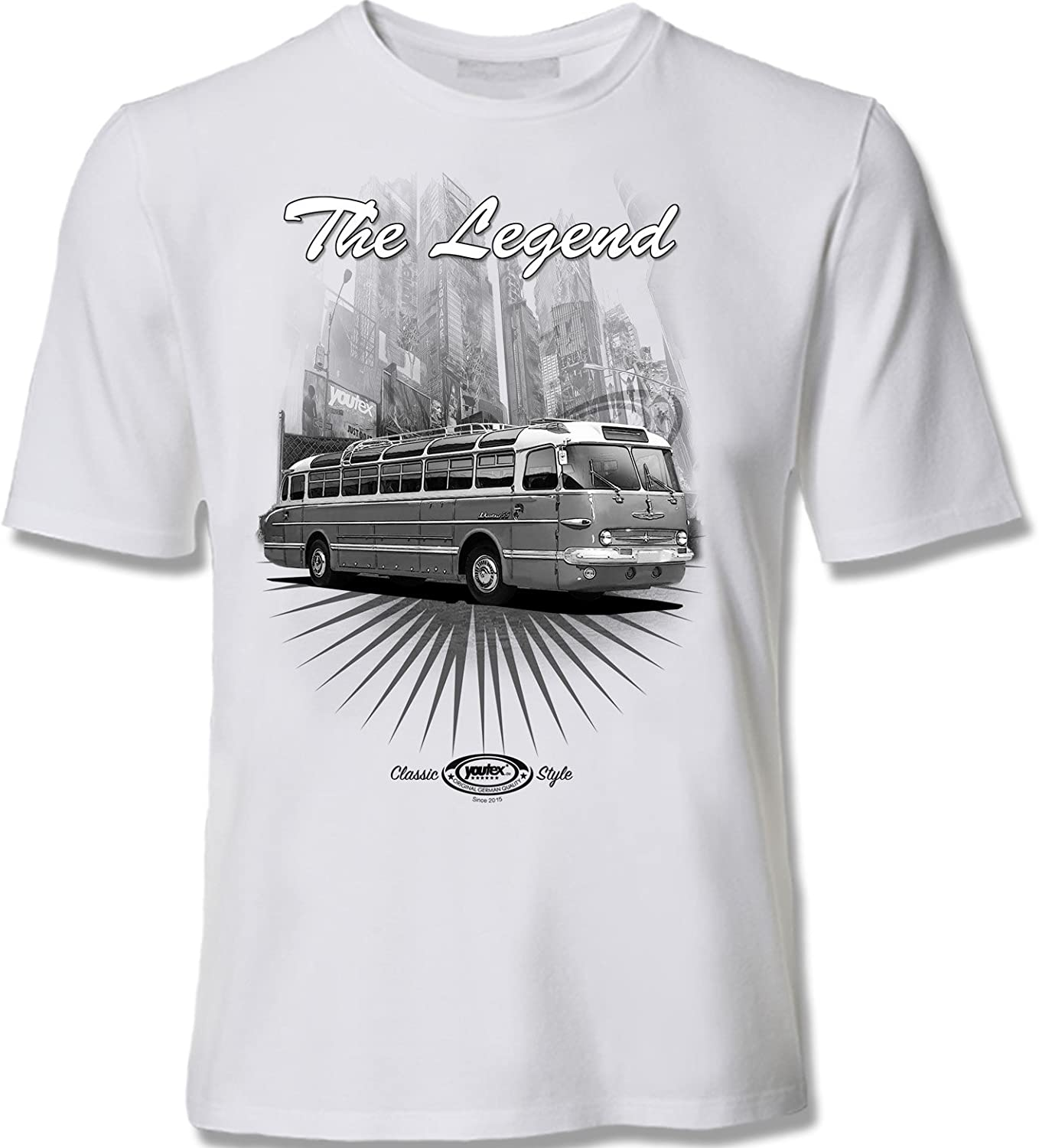 youtex IKARUS 256 Bus Black and White T Shirt 3XL