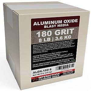 #180 Aluminum Oxide - 8 LBS - Very Fine Sand Blasting Abrasive Media for Blasting Cabinet or Blasting Guns.