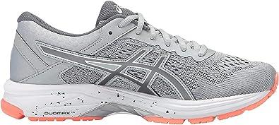 ASICS GT-1000 6 - Zapatillas de running para mujer, color gris medio/carbón/coral, 7,5 W US: Amazon.es: Zapatos y complementos