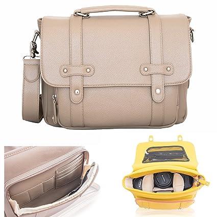Amazon.com: Elegante bolsa de cámara DSLR para las mujeres ...