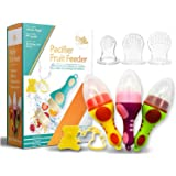 Fruit Feeder teething toys for babies 6-12 months 3PACK | Baby Fresh Food Feeder | Fresh Fruit Teething Toy Feeder | Baby tee