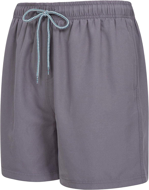Pantalones Ligeros ba/ñador con cord/ón Ajustable para la Playa Ba/ñador de Secado r/ápido Mountain Warehouse Ba/ñador Corto Aruba para Hombre para Vacaciones y Piscina