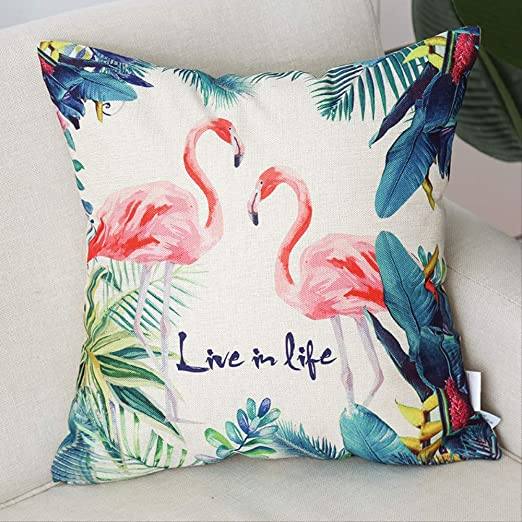 Almohada Decorativa Almohada Flamingo Abrazar Funda De ...