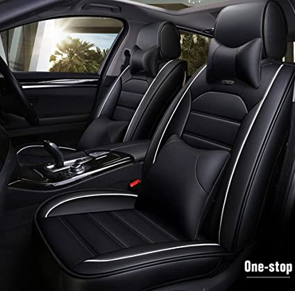 Front Leatherette seat covers fit Kia Soul 1+1 black