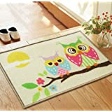Miracle Life Branches Cute Owl Beautiful Flowers Owl Rug