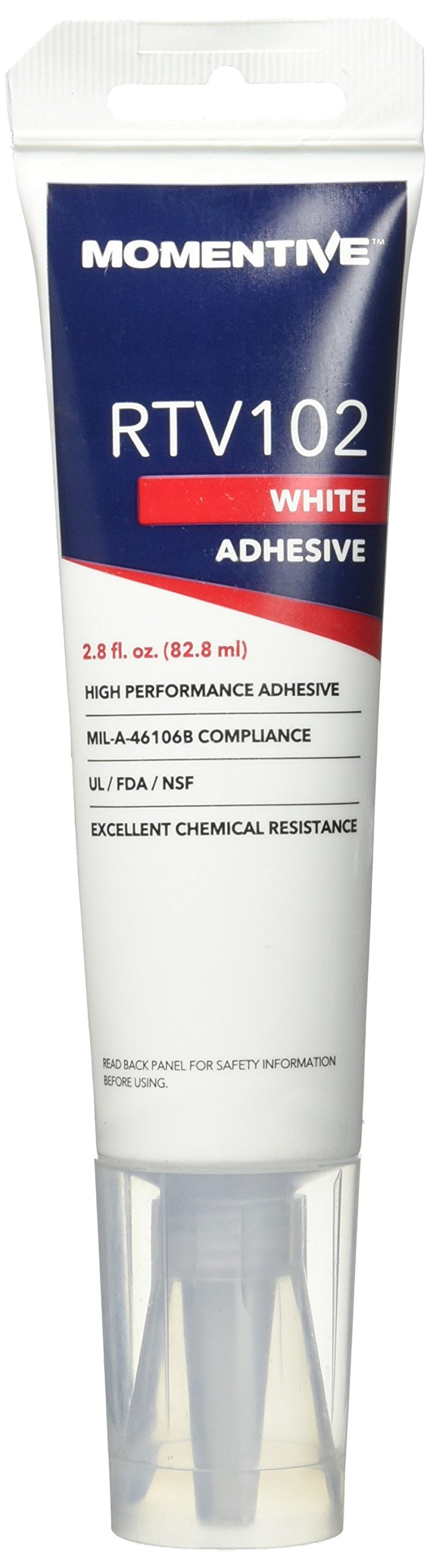 Momentive RTV102 One Part Silicone Sealant, 2.8 Ounce Tube, White by Momentive